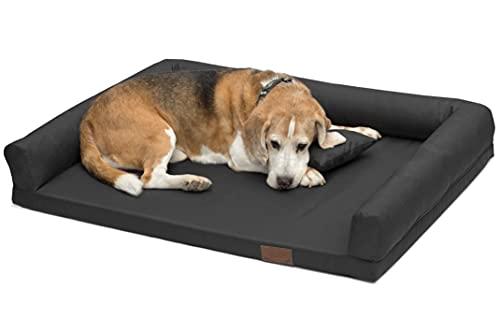 Artur Soja Lucky Ortho Orthopädisches Hundebett Schlafplatz Hundekissen Größe: M-XXL (XL 130x95cm, Graphit (Nr.02))