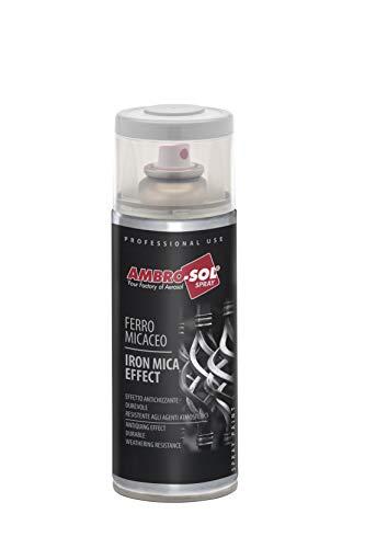 Ambro-Sol V400MIC4 Smalto Effetto Ferro Micaceo, Grigio Antracite, 400 ml