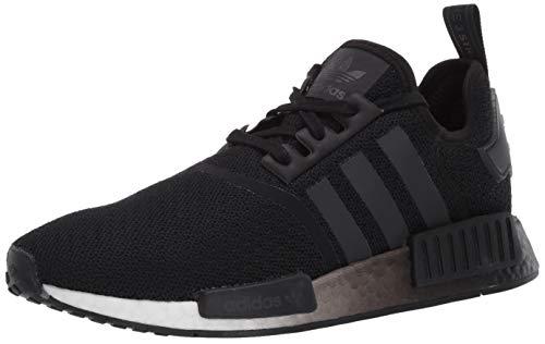 adidas Originals Women's NMD_R1 Sneaker, Black/Black/White, 5