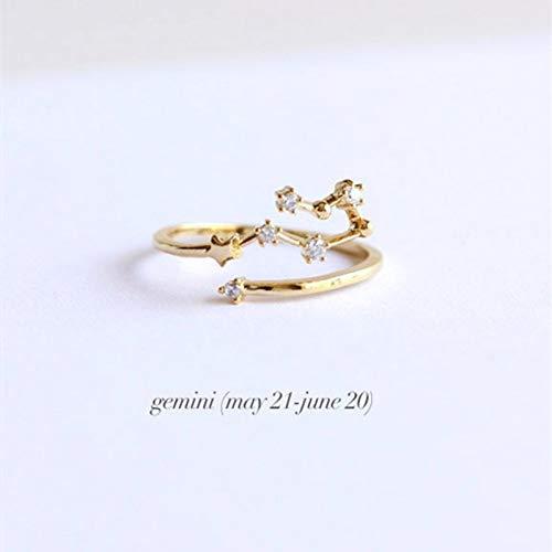 HYLJZ ring creatief sterrenbeeld ringen kristal open verstelbaar dames bruiloft verlovingsring vrouwen sieraden mode