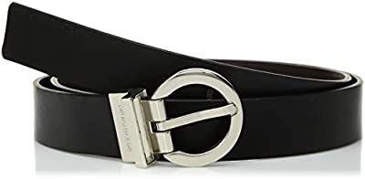 Calvin Klein Women's Reversible Belt,Black/ Brown,Small