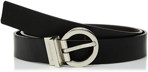 Calvin Klein Women's Reversible Belt,Black/ Brown,Medium