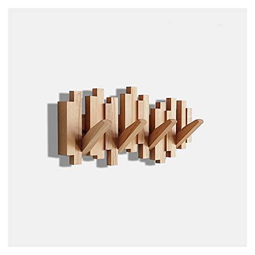 Percheros de pared Pegado de madera plegable Pegados montados en la pared...