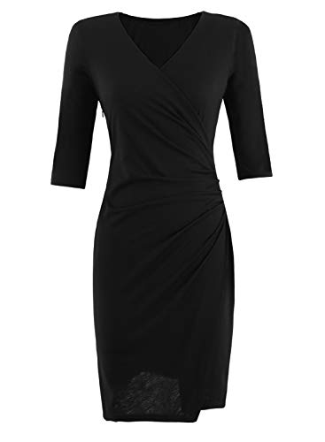 Women's Vintage V-Neck Classic Cocktail Party Business Work Sheath Bodycon Pencil Dress 166