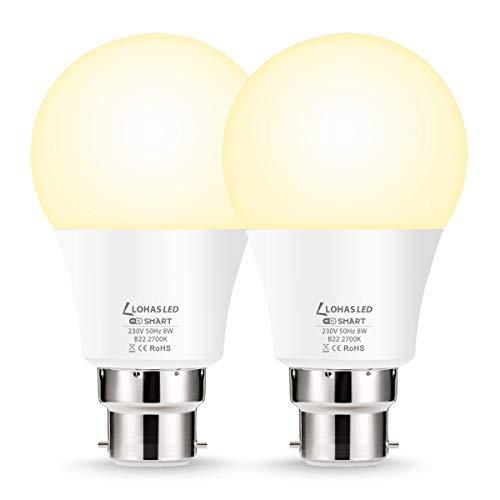LOHAS B22 Smart Light Bulb, A60 WiFi Light Bulb Bayonet, Work with SIRI,...