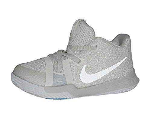 NIKE Infant Kyrie 3 Basketball Shoes (Ivory/Pale Grey-Light Bone, 6C)