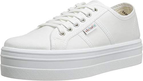 VICTORIA 9200 Zapatilla Plataforma Cordones Mujer Blanco 34