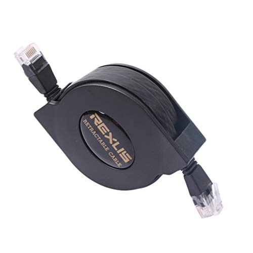 Solustre Internet-Netzwerkkabel, Premium 10 Gigabit Ethernet ausziehbares Netzwerkkabel Kat. 6 ultraflache RJ45-Anschlüsse für LAN-Netzwerkmodem-Router