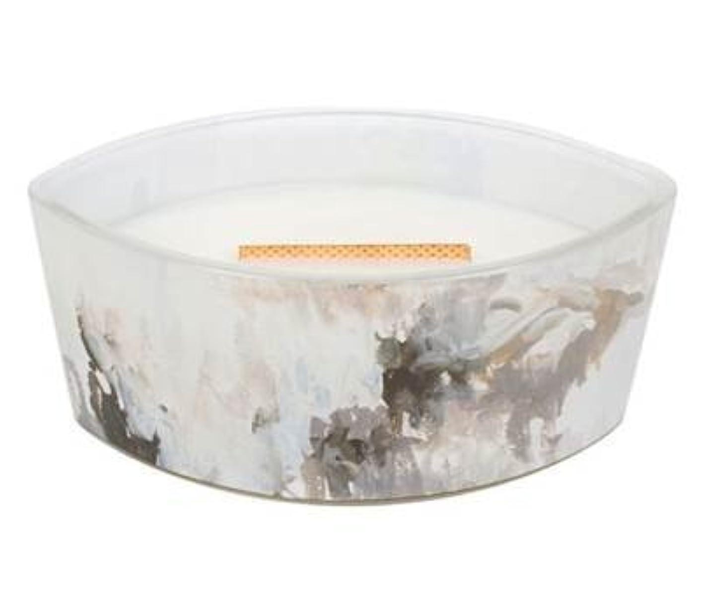 追放無能改善Honey Tabac?–?アーティザンコレクション楕円WoodWick香りつきJar Candle