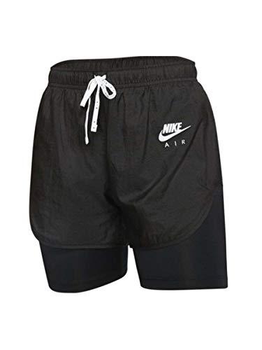 Nike W Nk Air 2in1 Shorts 2 in 1, Damen L Black/White/Reflective silv