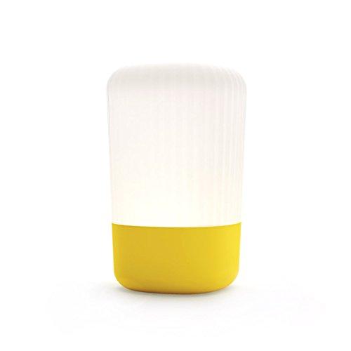 Fontana Arte Koho tafellamp, geel kap wit 3000 K