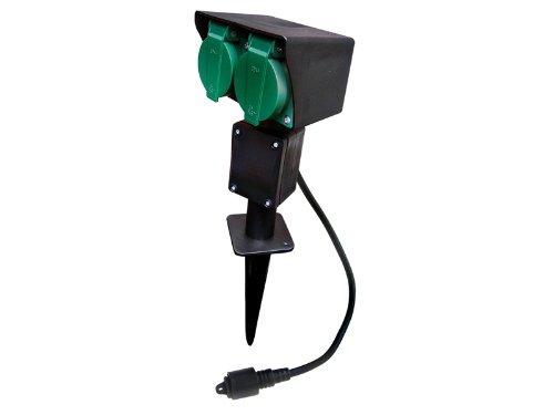 Easy Connect - 66470 - Piquet électrique de 2 prises