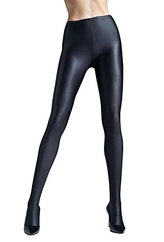 Gatta Black Brillant – blickdichte, topmodisch glänzende Strumpfhose - Größe 3-M - Nero-schwarz