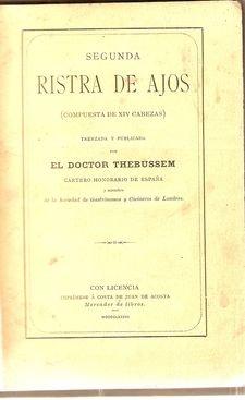 SEGUNDA RISTRA DE AJOS (COMPUESTA DE XIV CABEZAS).
