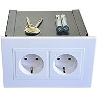 Gravitis Secreto caja fuerte de pared - Almacenamiento seguro para sus objetos de valor en esta caja de seguridad con enchufe oculto.