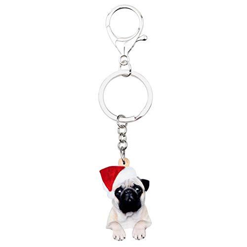 HXYKLM Acryl Kerst Sleutelhangers Sleutelhanger Ring Handtas Handtas Auto Bedel Sleutelhanger Voor Meisje Tiener Vrouwen Gift Accessoire