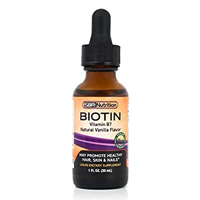 SBR Nutrition Max Absorption Biotin Liquid Drops, 5000Mcg Of Per Serving, 60 No Artificial Preservatives, Vegan Friendly, Support Healthy Hair, Strengthen Nails And Improve Skin Health, Made In Usa by SBR Nutrition