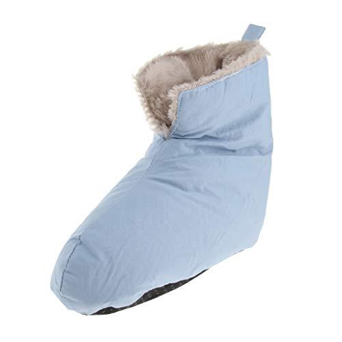 MagiDeal Winter Daunenschuhe Socken Hausschuhe, Warm Weich Gemütlich Für Outdoor Camping Schlafsack Indoor, Daunen Gefüllt Slipper Stiefel - Blau s