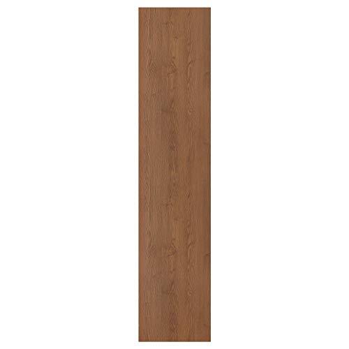 Puerta FORSAND 50 x 229 cm efecto ceniza teñido marrón