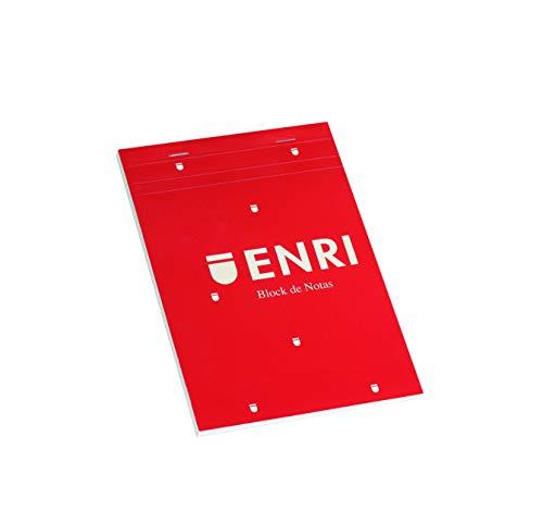Enri 100102716 - Pack de 5 blocs de notas grapados de tapa blanda, A5
