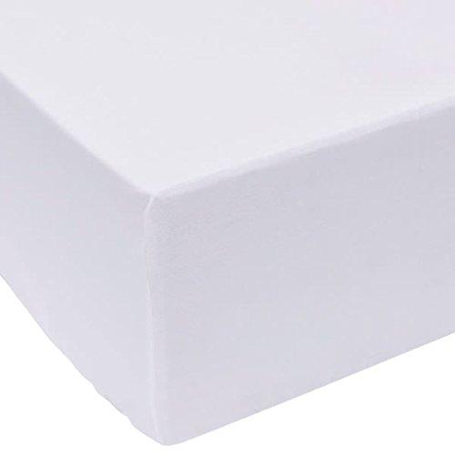 vidaXL Draps de lit 2 pièces 90 x 200 cm Coton Blanc