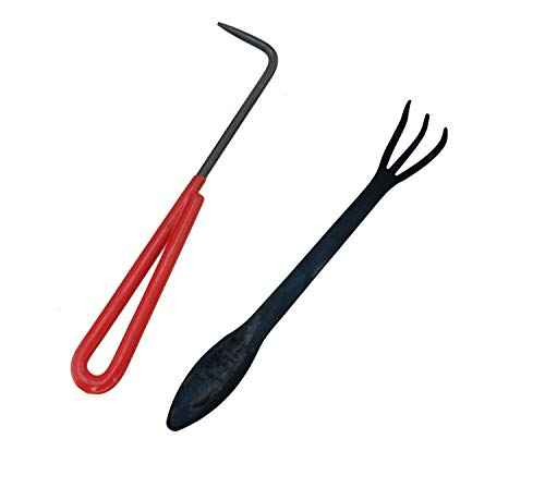 BambooMN Brand - 2 Piece Root Set - 9' Root Pick and 9' Root Rake