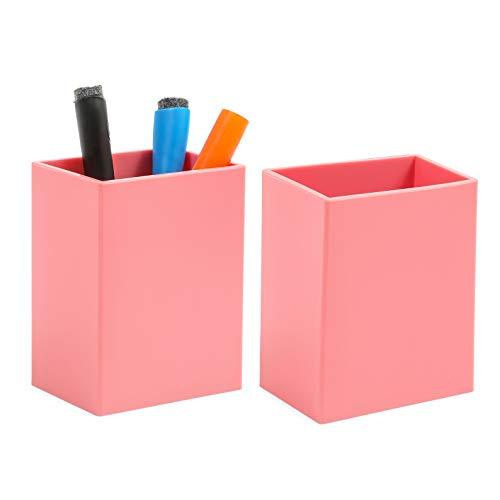 Magnetic Pen Holder for Whiteboard and Fridge (Pink, 2 Pack)
