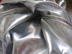 LAME Stoff Metallic in SILBER Meterware