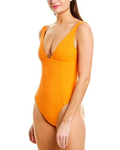 LSpace Women's Sunscape Plunge One Piece Swimsuit Tangerine 4