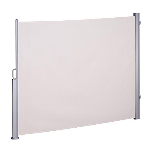 Seitenmarkise Sichtschutz ausziehbar Seitenrollo Sonnenschutz Beige 180 x 300 cm