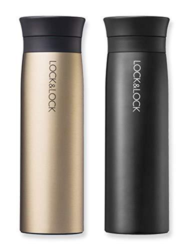 400ml Liner Gold Metallic color y negro Taza térmica para el par/con colador integrado especialmente para los amantes del Té y Café genießer termo//Tumbler