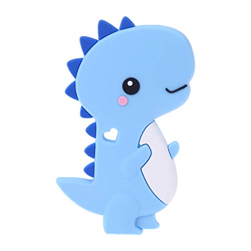 Youliy Dentición de silicona para bebé, diseño de dinosaurio de dibujos animados