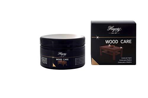 Hagerty Wood Care Crema con esencias naturales nutre y protege la madera 250 ml I Eficaz para regenerar brillo de muebles de madera I Limpia todo tipo de maderas decorativas I Incluye esponja