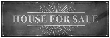 CGSignLab 9x3 Chalk Burst Wind-Resistant Outdoor Mesh Vinyl Banner House for Sale