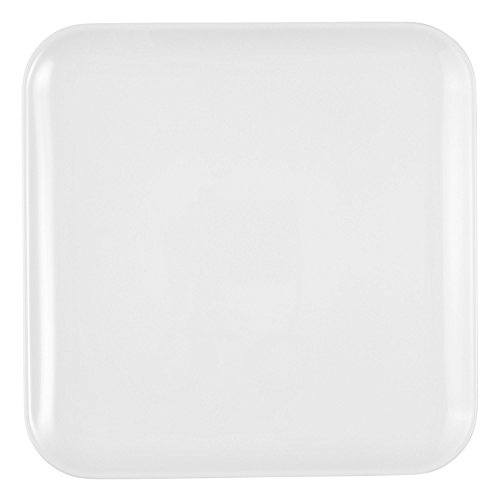Plat carré 5300 24 cm x 24 cm No Limits Blanc uni 00003 de Seltmann Weiden