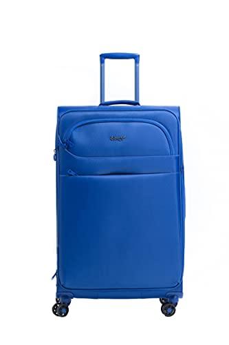 LYS Paris - Valigia da cabina morbida estensibile, ultra leggera, colore: Nero, blu, Valise Cabine Souple Extensible 'Ultra Light', Valigia