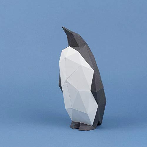 Little Pinguin, Yona DIY Papercraft kit, Pinguin papiermodell, 3D Origami Kit von Hand zusammenzubauen, Heimdekoration, Geschenk, Origami 3D, Papier Handwerk, Puzzle 3D,Penguin.