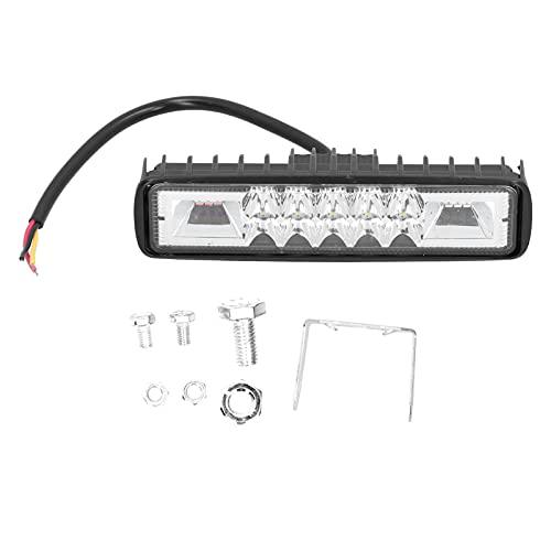 Lámpara de emergencia LED para automóvil, luz de trabajo LED para automóvil, faro rojo, azul, lámpara intermitente, impermeable, 48 W, 12 V, universal