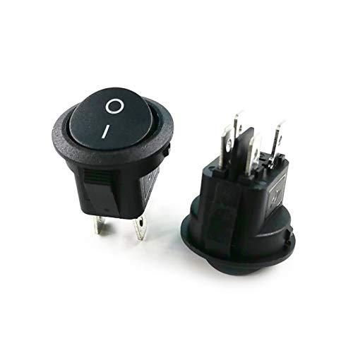QHMDZ Interruptor basculante KCD1 20mm Rocker CURBUCION Rocker Base Cuadrada 4 Pines AC 250 V 6A 125V 10A Color Rojo Negro Encendido/Apagado 4 pies Interruptores de alimentación