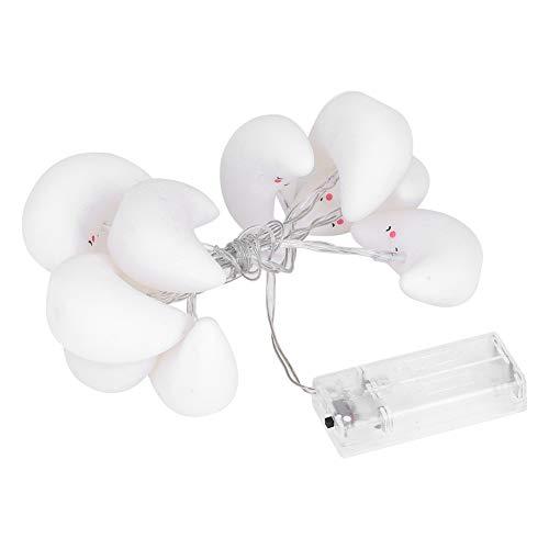 zcyg Cadena de luces LED, funciona con pilas, 10 LED, luz de cadena en forma de luna, lámpara decorativa de Navidad (blanco frío)