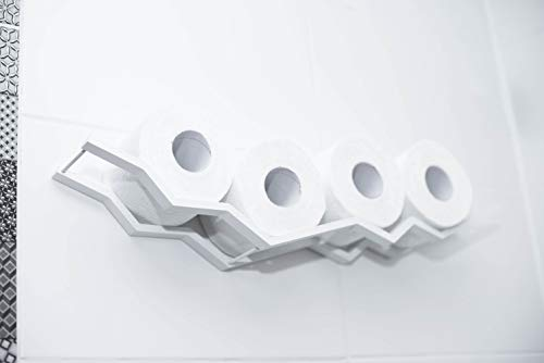 Estante de papel higiénico para decoración de baño, estante de made