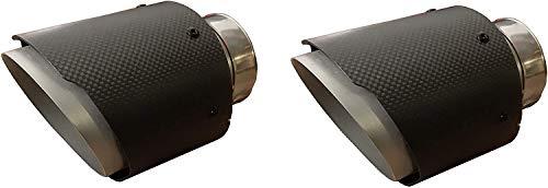 CARTUNER Duplex Carbon Auspuffblenden Endrohre Auspuff 100mm Anschluß 50mm Exclusiv