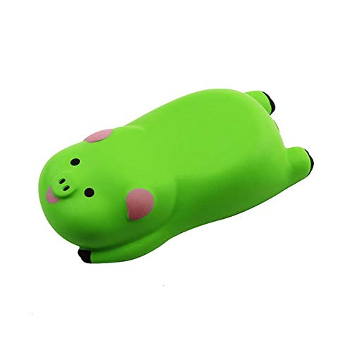 Ningc Cute Cartoon Pig Design Gaming Mouse Pad Comfort 3D Muñeca Alfombrilla de ratón Alfombrilla de Mano Soporte de Oficina Alfombrilla de ratón para Regalo de niña, Verde