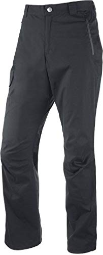 Crivit® Herren Trekkinghose aus Baumwolle - wasserabweisend, UV-Schutz 50+ (Gr. 56, Mattschwarz)