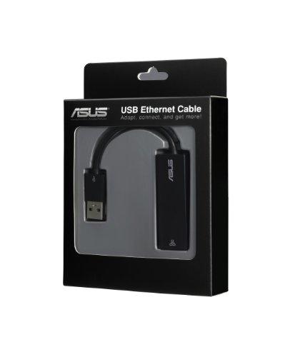 Asus Netzwerkadapter (USB zu Ethernet Kabel, 10/100 LAN, RJ-45-Anschluss) schwarz
