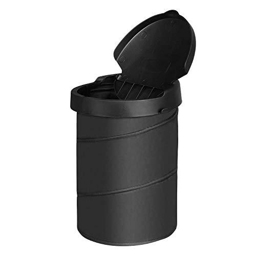 Gfhrisyty Bote de Basura del Coche Cubo de Basura Portátil Bolsa Desplegable Plegable Contenedor de Basura Cubo de Basura Negro