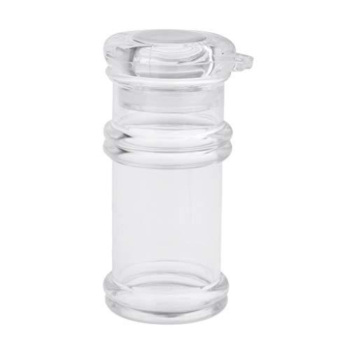 sharprepublic Botella Transparente del Dispensador de Aceite de Los Tarros del Condimento, Tarros de La Especia, Botella de La Sal del Azúcar - Botella de Aceite Blanco, Grande