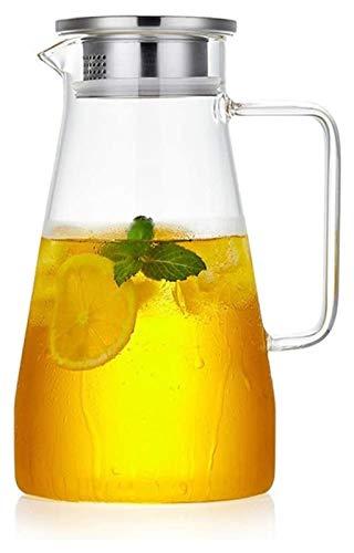 Tetera Hervidor de agua de gran capacidad 1500ML Glass Pitcher alta Resistencia al calor con el goteo resistente Pitorro jarra jarro de caliente y fría bebida botella de té de la flor Hervidor eléctri