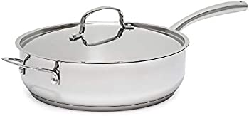 Goodful Tri-Ply Stainless Steel 5-Quart Saute Pan with Lid