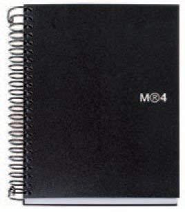 MIQUELRIUS – Cuaderno Espiral Microperforado, Cubierta Polipropileno Opaco, Tamaño A4 210 x 297 mm, 4 Taladros, 140…